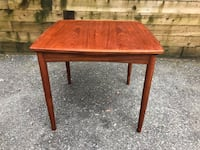 Designer danish teak dining table perfect apartmentSize with to dry leaves Vancouver, V6R 3C3