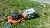 Self propelled huskavana push mower.