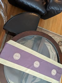 coffee table with two leather ottoman  Toronto