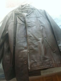 Brown leather mans jacket  Toronto, M9N 2A4