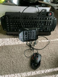 Full size gaming keyboard and mouse