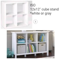 """Iso iso 12x12 or 13"""" cube stand Wrightsville, 17368"""