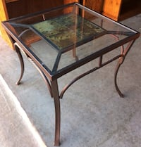 Beveled Glass, Tile and Wrought Iron Table Lakeville, 55044