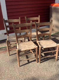 ladder-back chairs, old.  Needs TLC 4/$25 Worcester, 01602