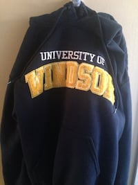 Black university of windsor drawstring pullover hoodie Windsor, N8R 1W6
