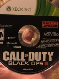 Call of Duty Black Ops III Xbox 360 game disc Nashville, 27856