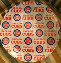 Vintage Chicago Cubs dish plate glass! Ready to hang in your wall! Chicago, 60661