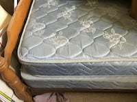 quilted white and gray mattress CENTREVILLE