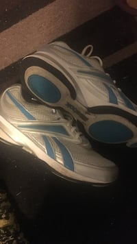 Gray-and-blue reebok athletic shoes size 10 womens Malden, 02148