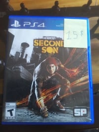 PS4 inFamous Second Son game case Laval, H7N