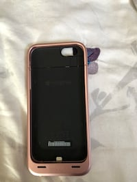 6s case with battery charger rose gold barely used