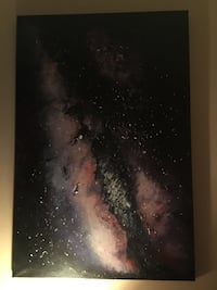 Black, brown, and white galaxy painting McAllen