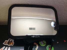 Baby mirror & kindle/ tablet holder for car