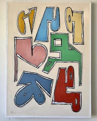 Original Abstract painting (acrylic, 33x45 inches) New York, 10025
