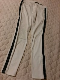 WHITE STRETCH JEANS black studs kind of 14 women  Manchester, 03103