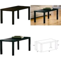 rectangular black wooden table with chairs Albany, 31701