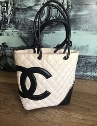 white and black leather tote bag Colorado Springs, 80915