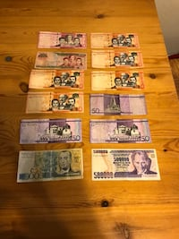 Dominican Republic and brazil paper money