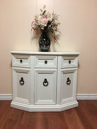 Off white wooden sideboard / end unit