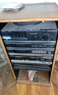 Stereo system free stereo system with cabinet.