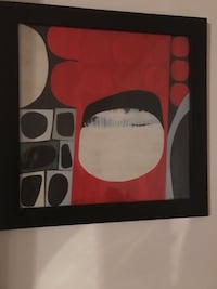 Black and red abstract painting