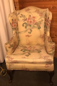Sofa, 2 wing back chairs