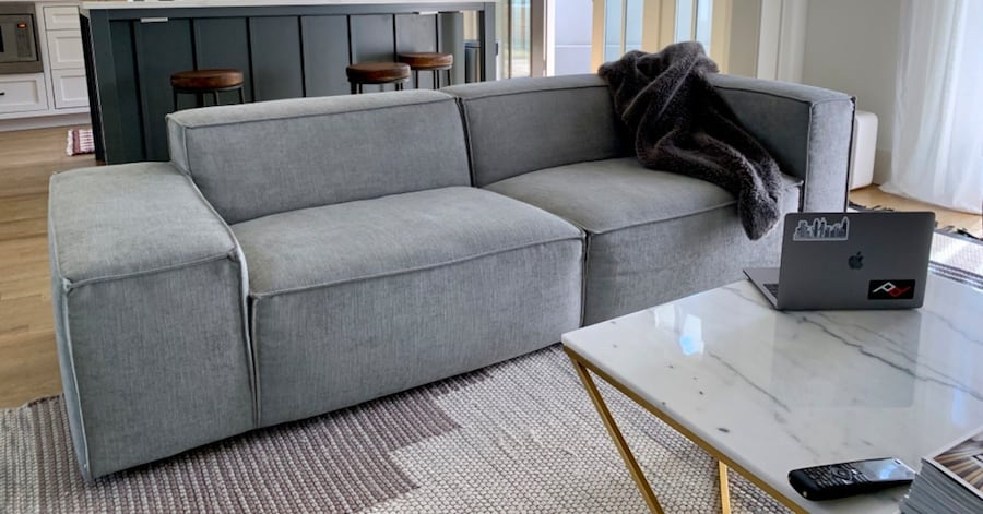 Grey Modern Sofa From Interior Define