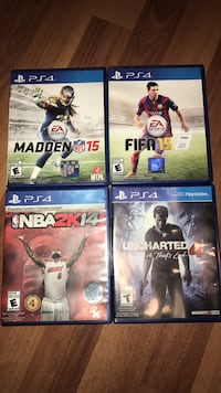 four assorted Sony PS4 game cases Mississauga, L5N 1X1