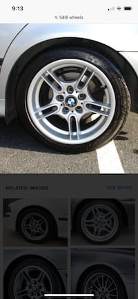 """Bmw E39 Style 66 540i 17"""" Sport staggered wheels set Moreno Valley, 92557"""