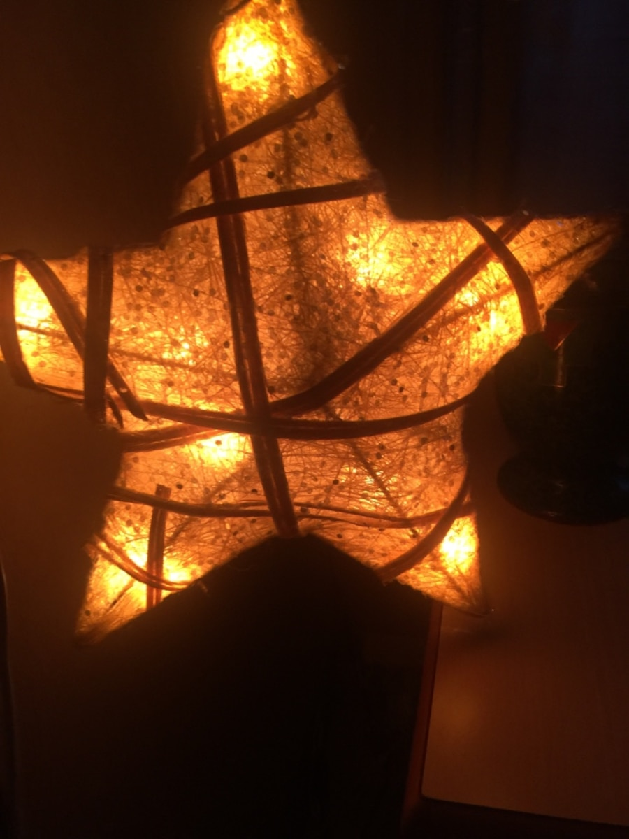 Brown star lighted lantern - Vestre Toten