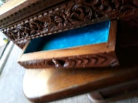 Old Large carved jewelry box Townsend, 19734