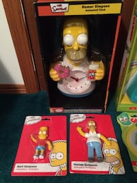 Homer Simpson clock / figures