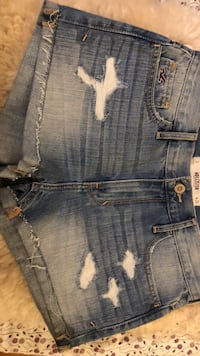 Blue denim distressed short shorts Hollister w26 3 36 Uslar, 37170
