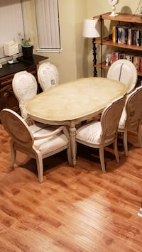 French postscript chairs & distressed dining table Milpitas, 95035