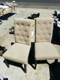 two white tufted padded chairs Modesto, 95350