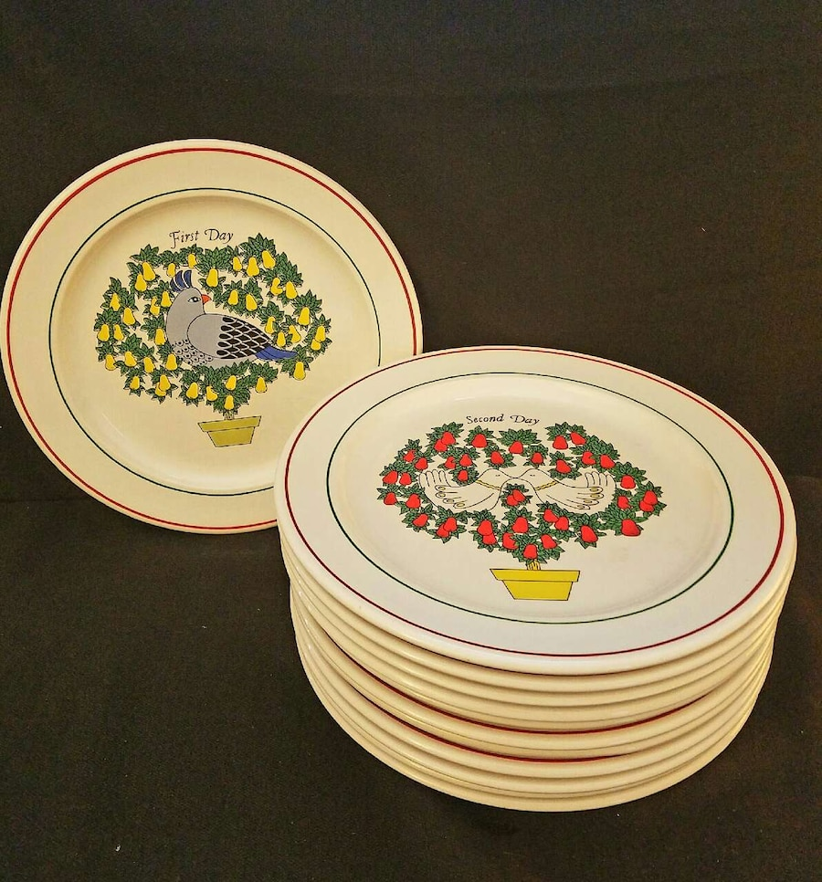 Used TAYLORTON POTTERY Plates12 Days of Christmas in East Windsor. Ronald PhilbrickTAYLORTON POTTERY Plates12 Days of Christmas & Used TAYLORTON POTTERY Plates12 Days of Christmas in East Windsor