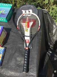 Black and red tennis racket