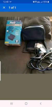 manual blood pressure cuff & stethscope set.  Baltimore, 21205