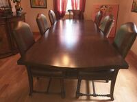 Luxurious natural wood, genuine leather dining set. Newtown, 18940