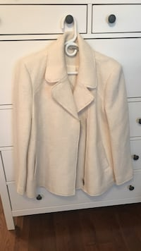 Zara Cream Coloured Wool Coat