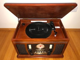 Vintage Style Multipurpose Record Player