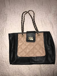 ALDO purse, never used, black and nude