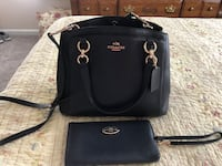 Coach satchel crossover bag with wallet