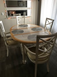 White wooden table
