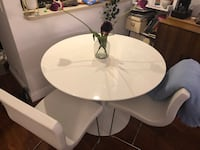 round white wooden table with four chairs dining set New York, 10011