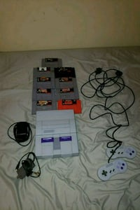 Original SNES console with controller and game Severn, 21144