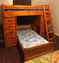 brown wooden loft bed frame Alexandria, 22305