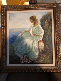 Woman sitting on chair painting 238 mi