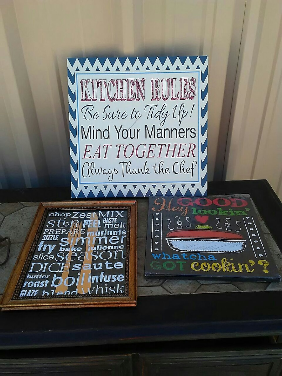 3 kitchen wall hangings in Grand Junction - letgo
