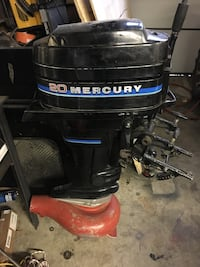 Black 20 Mercury outboard motor with jet drive run fantastic it come with gas tank Edmonton, T5S 0G5